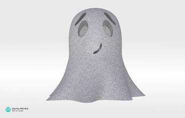 Cute ghost - Sandstone grey