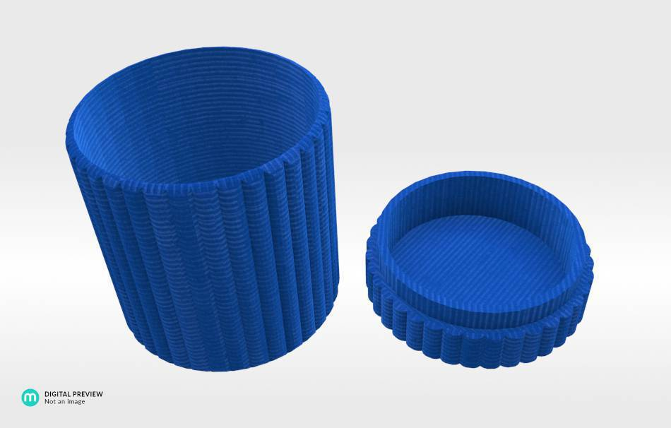 Organic plastic blue                                                Organizers Organizers Decoration Decoration Others Others 3D printed