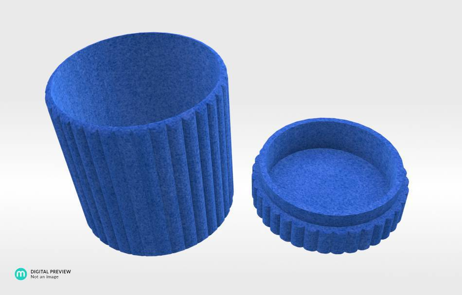 Plastic matte blue                                                Organizers Organizers Decoration Decoration Others Others 3D printed