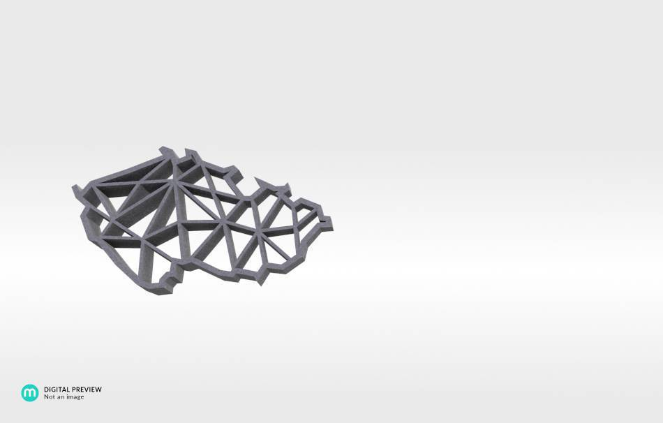 Sandstone grey                                                Jewelry Pendants 3D printed