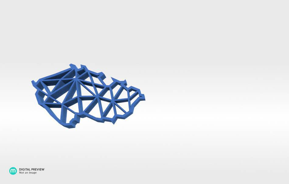 Sandstone blue                                                Jewelry Pendants 3D printed