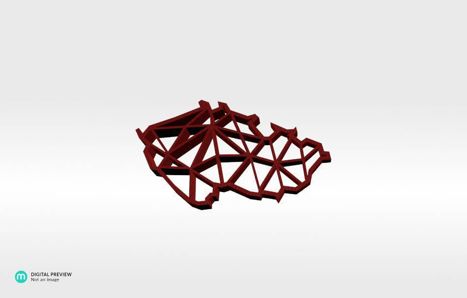 Organic plastic red                                                Jewelry Pendants 3D printed