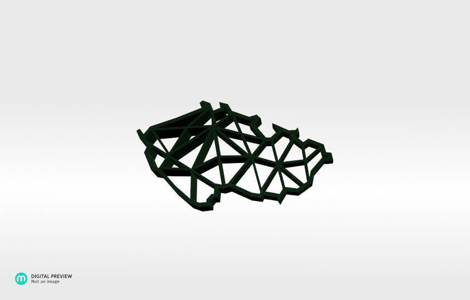 Plastic shiny & sturdy green                                                Jewelry Pendants 3D printed