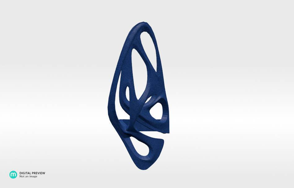 Plastic matte blue                                                Jewelry Rings 3D printed