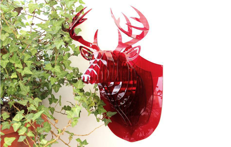 Acrylic glass 3mm red                                                Fun Decoration Decoration Home Office Fun Lasercut