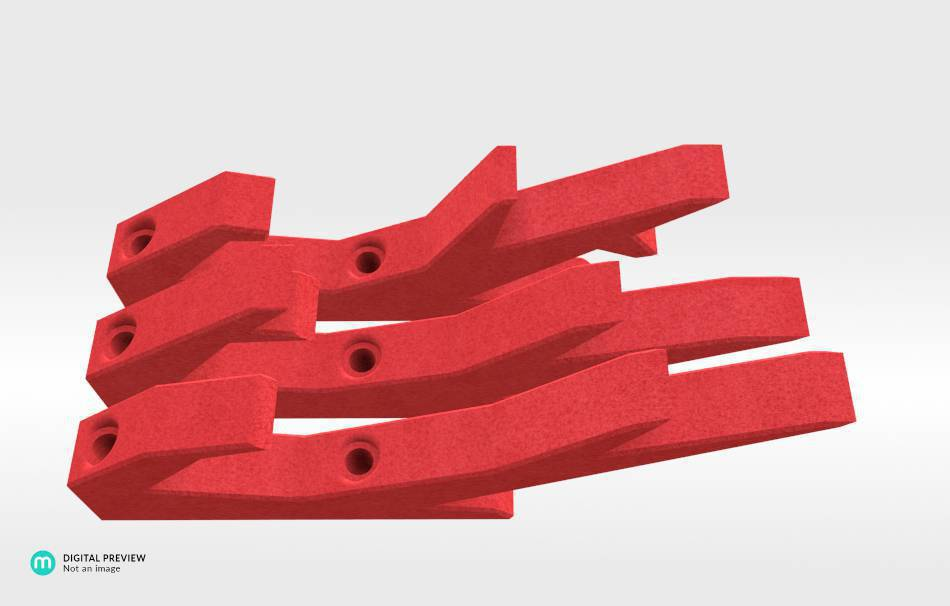 Plastic matte red                                                Organizers Organizers Decoration Decoration Home Office 3D printed