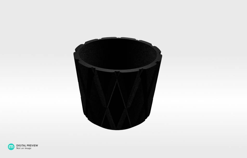Plastic matte black                                                Decoration Decoration Home Office Others Others 3D printed
