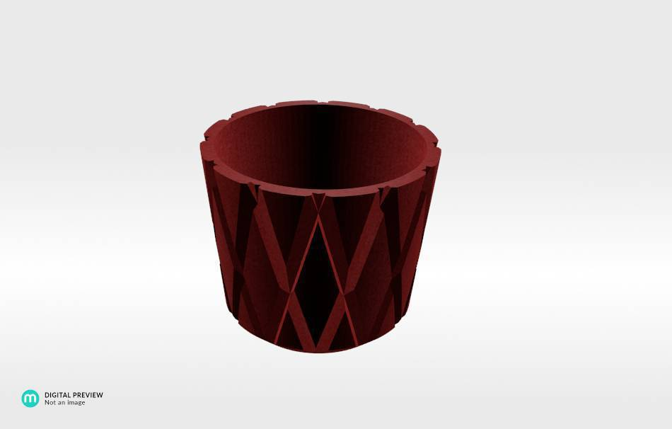 Plastic matte red                                                Decoration Decoration Home Office Others Others 3D printed