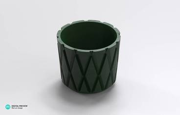 Diamond pattern planter
