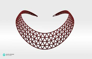 Domo II Necklace - Plastic matte red