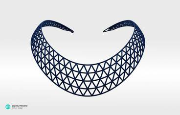 Domo II Necklace - Plastic matte blue