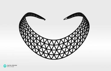Domo II Necklace - Plastic matte black