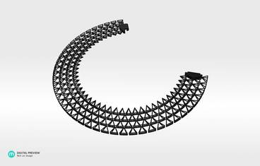 Domo Necklace - Plastic matte black