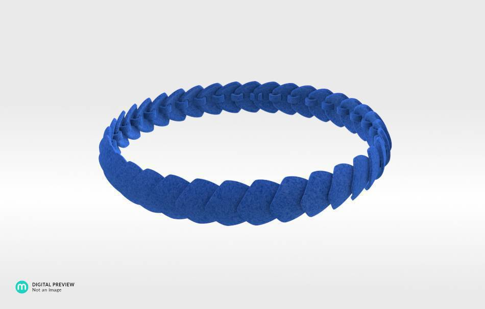 Plastic matte blue                                                Necklaces Jewelry competition | winning designs Top designs Jewelry 3D printed