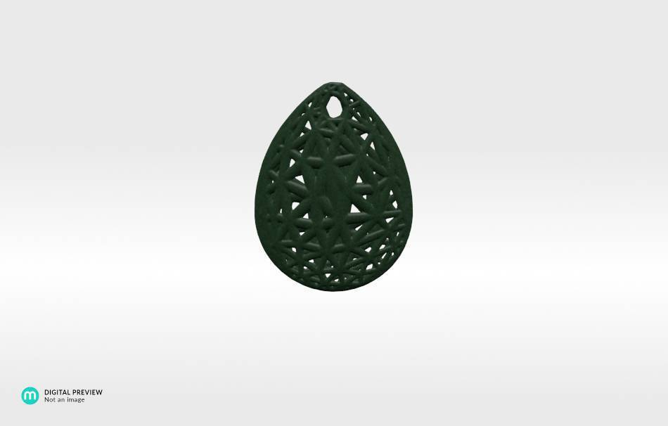 Plastic matte green                                                Jewelry Pendants 3D printed