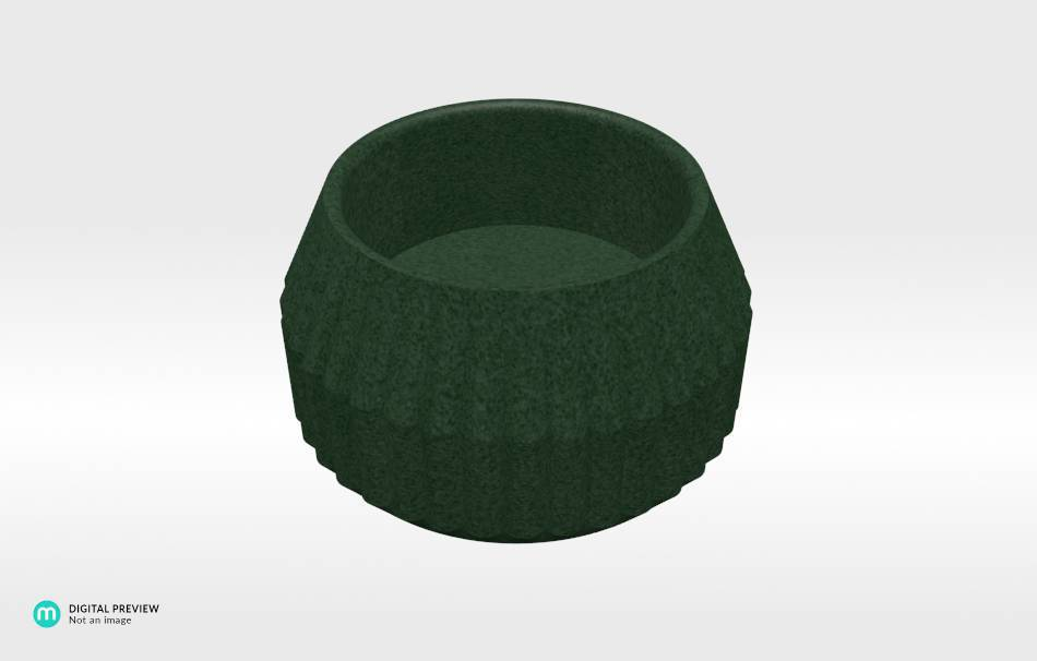 Plastic matte green                                                Decoration Decoration Home Office 3D printed