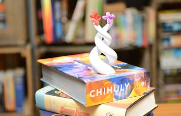 Tiny flowers, colourful books