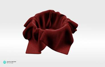 Fabric candle holder - Plastic matte red