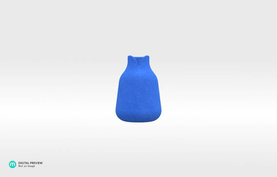 Plastic matte blue                                                Home Others 3D printed