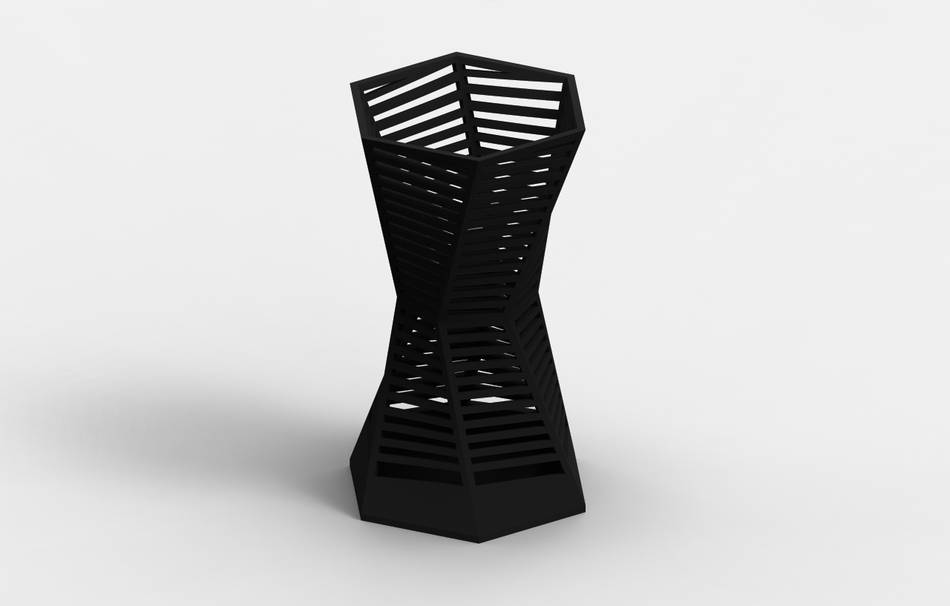 Plastic matte black                                                Decoration Decoration Home Office 3D printed