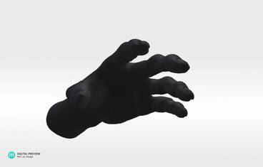 Flowerpot Zombiehand - Resin black