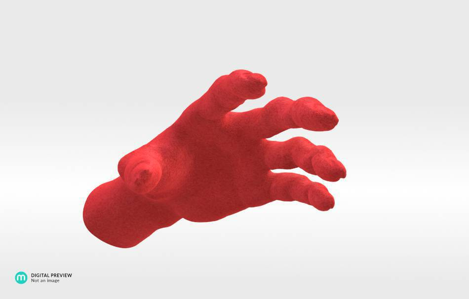 Plastic matte red                                                Decoration Home 3D printed