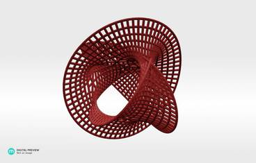 Geometrical design - Plastic matte red