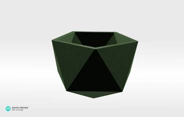 Geometrical planter - Plastic glow-in-the-dark glow in the dark
