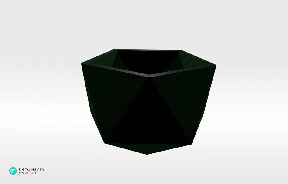 Organic plastic green                                                Decoration Decoration Home Office 3D printed