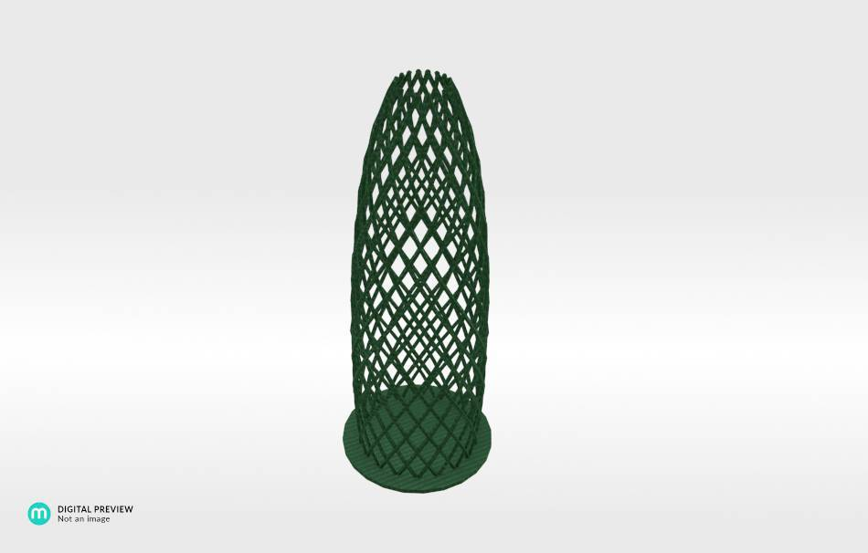 Plastic shiny & sturdy green                                                Decoration Decoration Home Office 3D printed