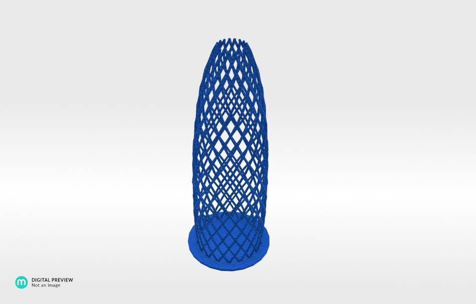Plastic shiny & sturdy blue                                                Decoration Decoration Home Office 3D printed