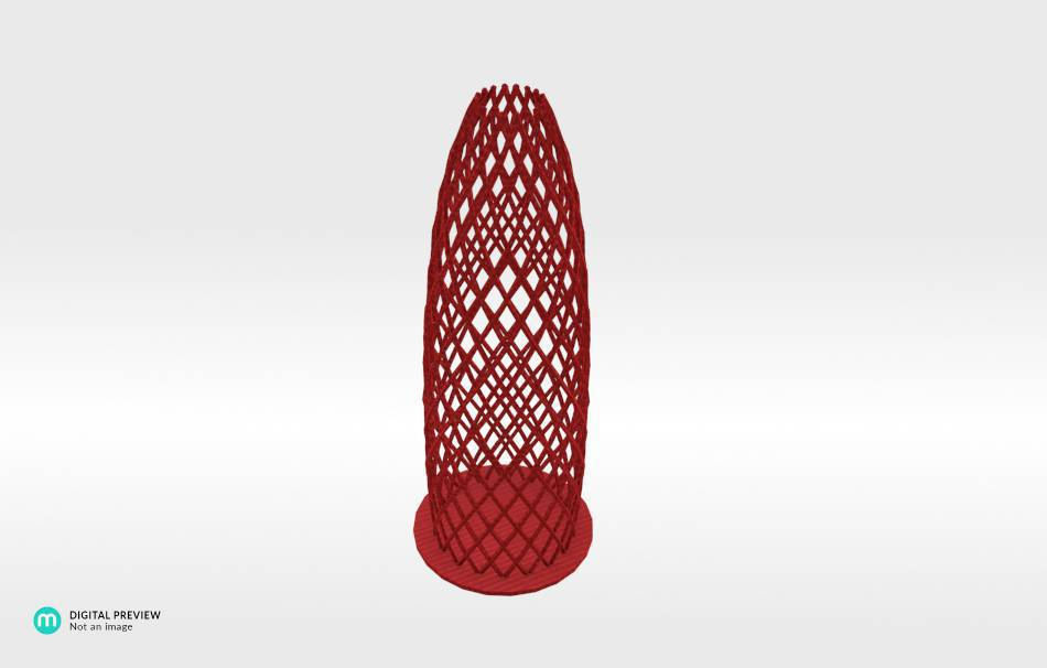 Organic plastic red                                                Decoration Decoration Home Office 3D printed