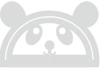 Goniometer Panda - Acrylic glass 5mm colorless transparent