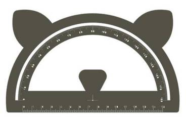 Goniometer with ears - Acrylic glass 3mm black