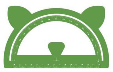 Goniometer with ears - Acrylic glass 3mm green
