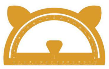 Goniometer with ears - Acrylic glass 3mm orange
