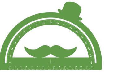 Goniometer with moustache - Acrylic glass 3mm green