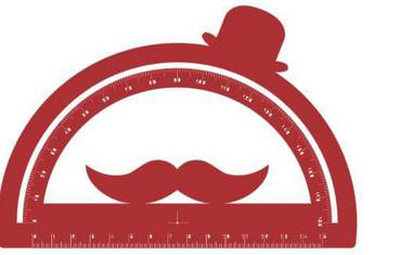 Goniometer with moustache - Acrylic glass 3mm red