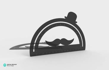 Goniometer with moustache