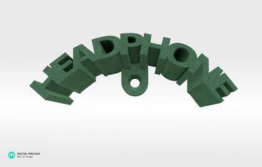 Headphone stand - Plastic matte green