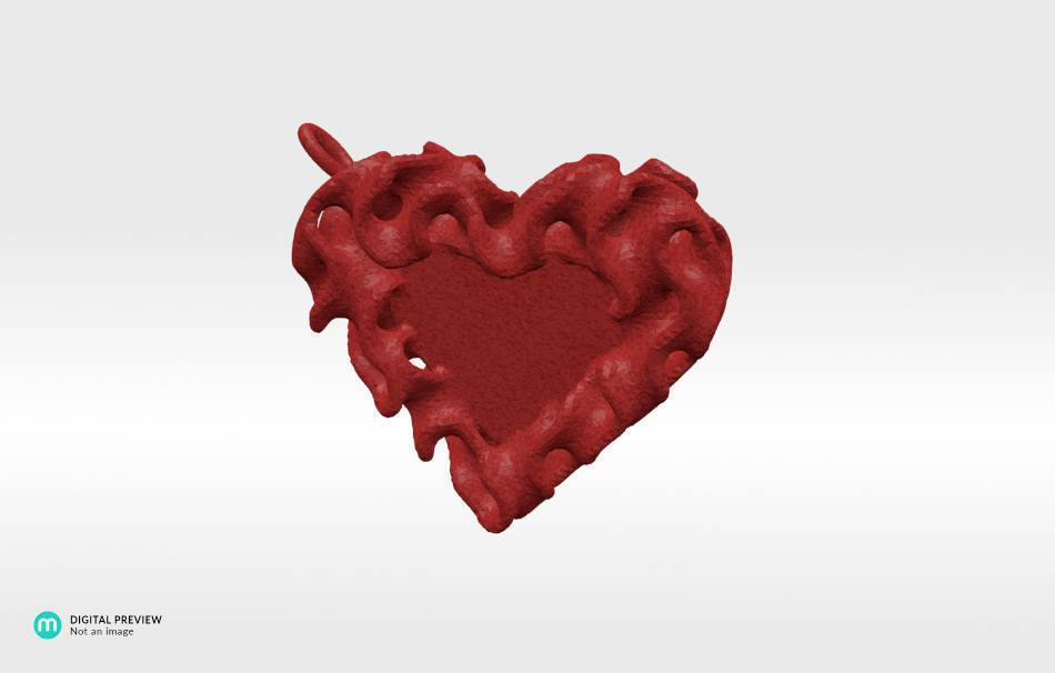 Plastic matte red                                                Jewelry Pendants 3D printed
