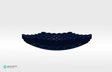 Honeycomb flat bowl - Plastic matte blue