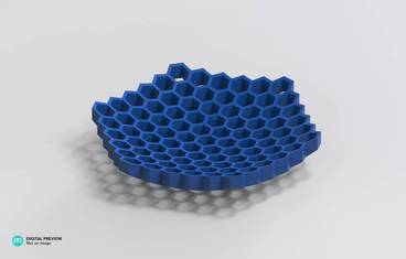 Honeycomb flat bowl