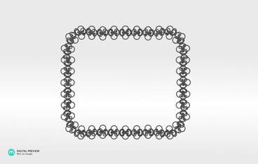 Interlocking necklace - Plastic matte black