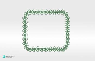 Interlocking necklace - Plastic matte green