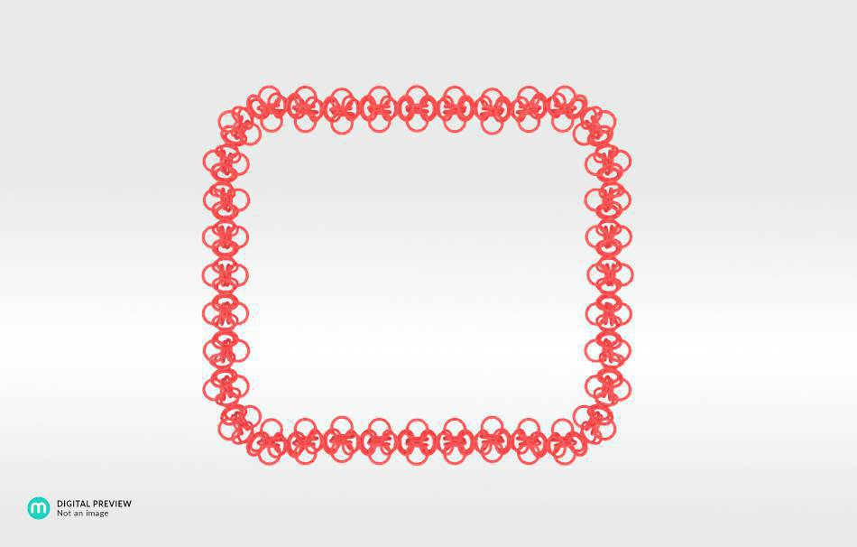 Plastic matte red                                                Necklaces Jewelry competition | winning designs Top designs Jewelry 3D printed