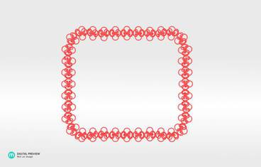 Interlocking necklace - Plastic matte red