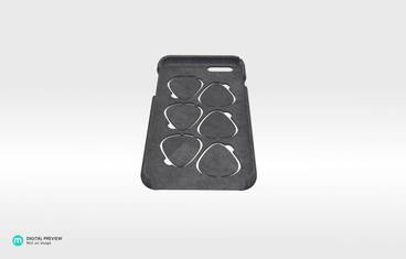 iPhone 6 case with guitar picks - Plastic matte black