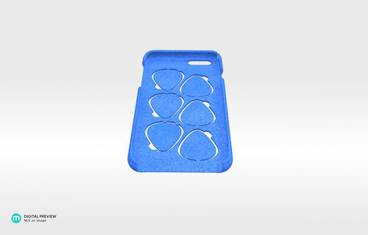 iPhone 6 case with guitar picks - Plastic matte blue