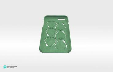 iPhone 6 case with guitar picks - Plastic matte green
